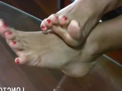 long feet and toes teasing 2