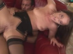 Lonely housewife Linda Brown is satisfied by Mike Angelo's cock