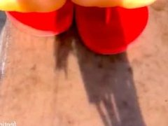 ebony flip flop soles