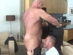Muscle Daddies Zak Spears and Tyler Saint Have an After Work Fuck