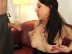 Casting turns into a hardcore fucking scene with hot babe Jana