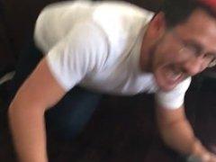 Interracial man receives oral workout