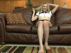 Saphira Night police uniform. first time casting couch interview, getting n