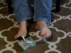 TSM - Lola unwraps a present with her feet