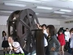 Asian slut tied to water wheel and taunted [5_19]