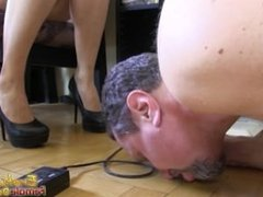 Brandy Smile spits in her loser slave's mouth