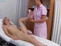BLONDE BABE PINK NIPPLES MEDICAL EXAMINATION