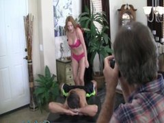 Complete behind the scenes of Krissy Lynn getting her pussy drilled by Chad