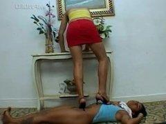 Brazilfeet Lesbian Trampling in Sandals #2