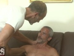 Hot Muscle Daddy Couple Fucking