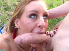 Hot little whore Lizzy London gets railed out in nature on a hike