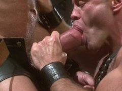 Hung Leather Daddies Fuck in a Sling