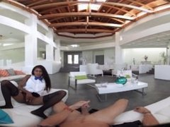 VR Bangers - [360° VR] Sexy Black Perfect Ass Maid Fucked and Cream-pied