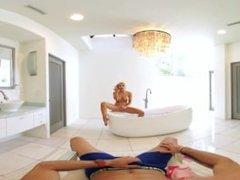 VR Bangers - [360°VR] Blonde Alix Lynx cought by boyfriend masturbating