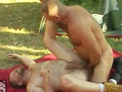 Daddy Bear Camping Fuck Orgy