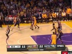 Kobe Bryant fucks the whole Jazz team in his last game