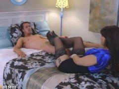 Her First Footjob: Lucy Doll & Syren De Mer Milf - Teen Threesome