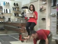 Smothered at shoe store