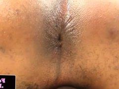 Bigcock ebony femboy masturbates and jizz