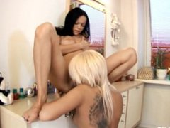 Tender Teens by Sapphic Erotica - sensual lesbian sex scene with Liza and A