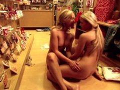 Embarrassed Shoppers by Sapphic Erotica - sensual lesbian sex scene with Sh