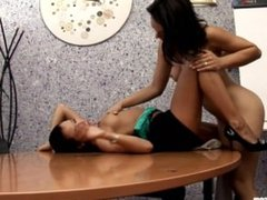 Sexual Interview by Sapphic Erotica - sensual lesbian sex scene with Ginger