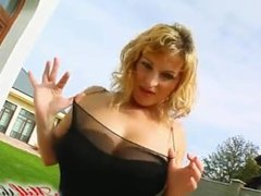 two cocks for a busty milf
