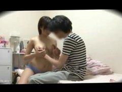 Japanese girl seduction in the bathroom