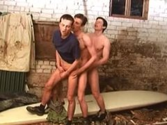 Double fucked by horny soldiers