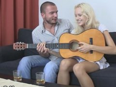 Blonde gf spreads legs for his bro