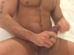 Muscle Stud Enjoying His Big Dick