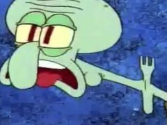 Squidward Chokes On A Fork For 10 Minutes