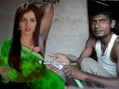 Raju shaves both armpits of a gorgeous female with a straight razor at home