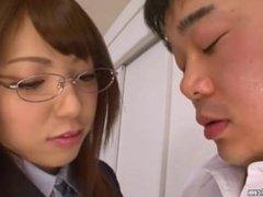 Schoolgirl Licking A Man