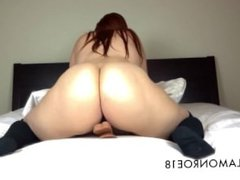 Sexy booty shaking and dildo riding and sucking