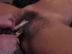 Fetish lesbian babe bondage teasing her hairy lover