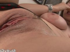 Alektra Blue BIG ass, Natural massive tits fingering her pussy til she org