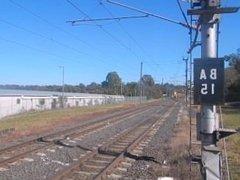 Queensland Rail's NGR 703 transfer at Bundamba