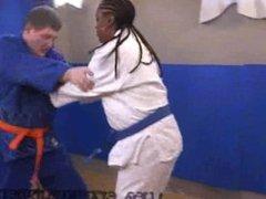 Ebony Judo Interracial Catfight