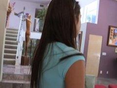 Blue eyed lesbian teen Celeste Star seduces redhead babe