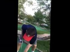 Horny Golfer Knocks His Colorful Balls Into Gaping Holes