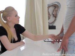 Blonde Russian Beauty secretary fucked in her Ass
