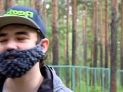 russian сука gets horny when finds a dollar in the woods