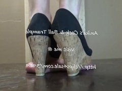 Balls crushed under the Wedges of Anika Smith