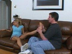 Kandi when she was 18... Foot play & tickle (2004 silvercherry)