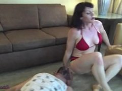 Teaching lazy dick a lesson