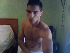 Fit italian guy jerking