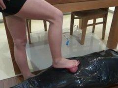 Hard cock trampling