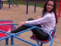 girl black leggings