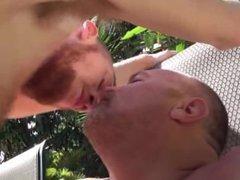 Daddy Bear Mitch Fucks His Sexy Boy by the Pool